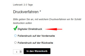 digitaler Direktdruck